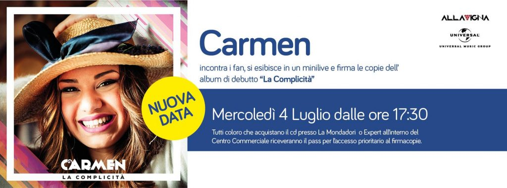 Carmen Ferreri incontra i suoi fan