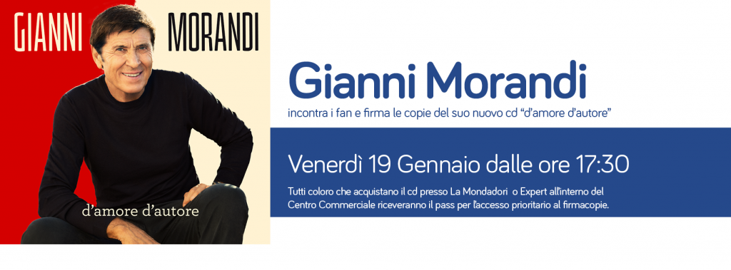 Gianni Morandi incontra i suoi fan
