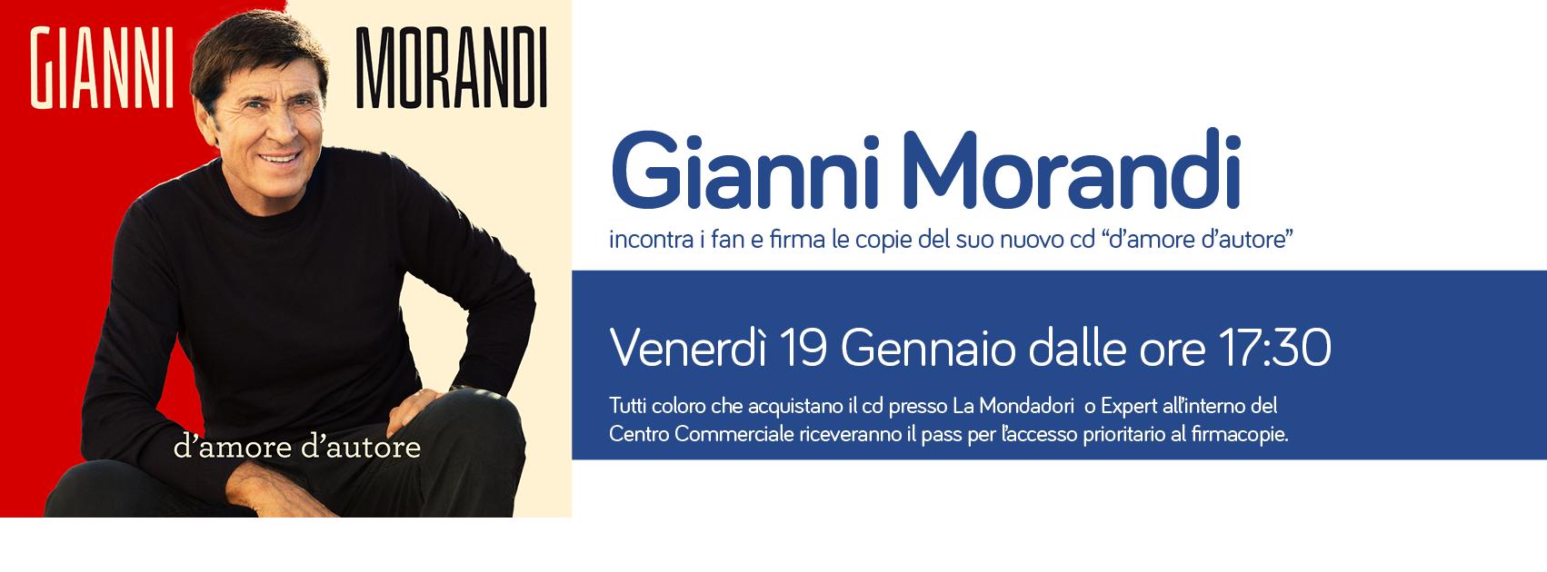 Gianni Morandi incontra i suoi fan
